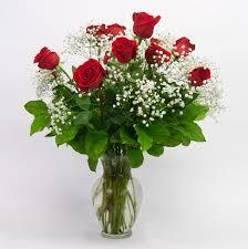 Red Flowers In A Vase 12 Long Stemmed Red Rose Vase Brattle Square Florist Since 1917