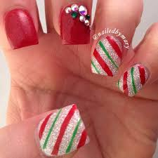 the 25 best candy cane nails ideas on pinterest christmas nail