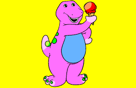 barney the dinosaur coloring page youtube