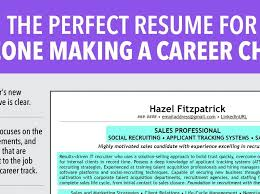 Resume For One Job by Pretty Change Of Career Resume 7 Ideal Resume For Someone Making A