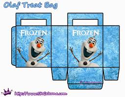 printable paper bags frozen free printable paper bags in light blue invitaciones para