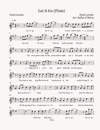 terrific colors of the wind flute sheet music music let it go