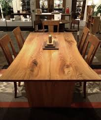 Elm Dining Table Live Edge Elm Dining Table The Joinery