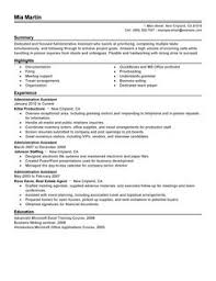 Template For Administrative Assistant Resume Administration Assistant Resume Sle Template Sle