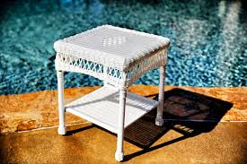 white wicker side table wicker side tables tortuga outdoor white