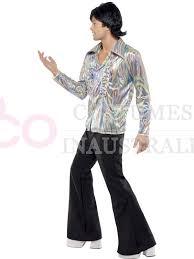 Disco Dancer Halloween Costume 1960s 70s Hippie Disco Dancer Man Mens Retro Halloween Fancy