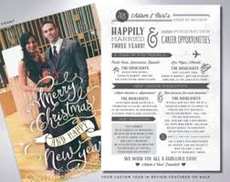year in review christmas card merry christmas and happy new year custom cards
