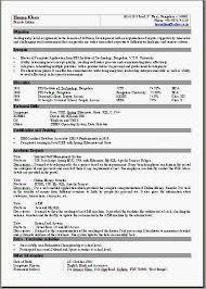 2 Page Resume Template One Page Resume Template Word Resume Template Word Free Easy