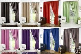 Chocolate Curtains Eyelet Thermal Blackout Curtains Eyelet Ring Top Or Pencil Pleat Free Tie
