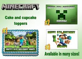minecraft edible cake topper 23 best edible cake toppers images on edible cake