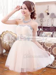 princess strapless short tulle sequin rhinestone homecoming