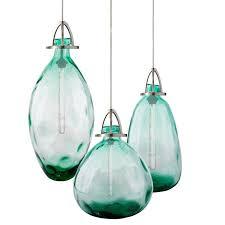 Green Glass Pendant Light Hand Blown Glass Pendant Lights Naindien With Regard To Popular