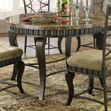 Marble Top Sofa Table by Steve Silver Hamlyn Round Faux Marble Top Metal Dining Table
