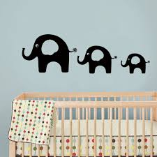 bathroom wall stickers promotion shop for promotional elephant vinyl wall sticker kids room decal baby nursery art dad mom and