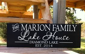 Family Wood Sign Home Decor Lake House Sign Lake House Decor Custom Lake House
