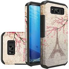 Eiffel Tower Accessories Samsung Galaxy S8 Paris Eiffel Tower Design Slim Hybrid Rugged