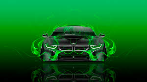 Bmw I8 Green - bmw i8 front fire abstract car 2015 wallpapers el tony cars ino
