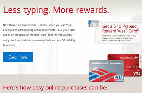 free debit card free 10 for bank of america credit or debit card holders