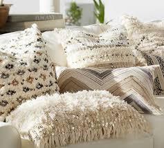 zig zag appliqué lumbar pillow cover pottery barn