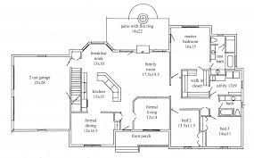 floor plans for ranch houses ranch house plans 4 bedroom plan one with master small design