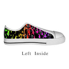Comfortable Canvas Sneakers Custom Abstract Pattern Canvas Shoes Cool Shoe Designs Comfortable