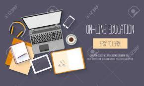design online education flat design baners for online education training courses e