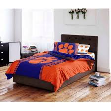 Tiger Comforter Set Ncaa Clemson University Tigers Bed In A Bag Complete Bedding Set