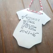 baby stats onesie ornament perfect for baby u0027s first christmas