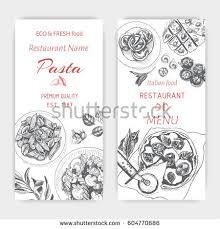 vector illustration sketch pasta card menu italian stock vector