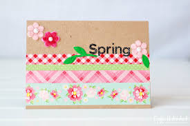 washi embellished handmade cards