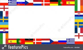 Europe Flags 16 National Flag Frame Pattern Stock Illustration I3842684 At
