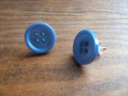 button earrings blue button earrings by viszay on deviantart
