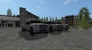 Ford F350 Landscape Truck - ford f350 edited v1 2 ls17 farming simulator 17 2017 mod