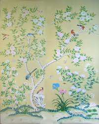 Wallpaper With Birds Chinoiserie Mu2011 Hand Painted Chinoiserie Mural On Canvas