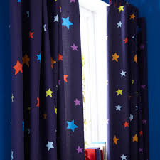 Navy Blue Curtains For Nursery Navy Blue Curtains With A Multicoloured Print Http Www
