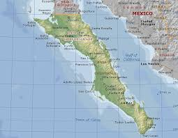 map of mexico and california baja mexico map major tourist attractions maps
