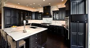 black kitchen cabinets with white countertop color facts about top materials for countertops cabinetland