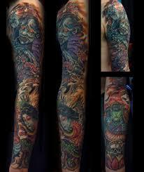 ghost tattoos japanese ghost sleeve michael tofano tattoo