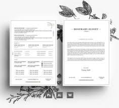 Resume Template Business Creative Business Card Cv Template Cover Letter Flower