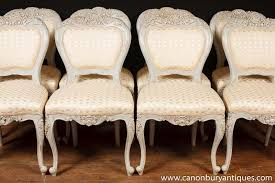 Painted Dining Chairs by Set 8 French Provincial Painted Dining Chairs Rustic Furniture Ebay