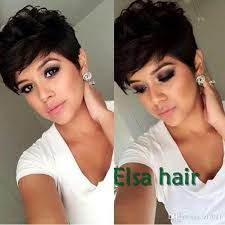 pixie to long hair extensions natural black rihanna chic pixie cut short human hair wigs