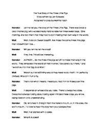 true story pigs duet acting script