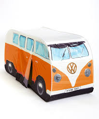 volkswagen orange vw camper van play tent orange