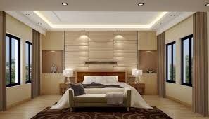 Home Interior Design For Bedroom Soft Glow Of Lights And Neutral Palette Keep This Bedroom Serene
