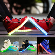 ladies light up shoes unisex led shoes couples glowing flats for casual walking light up