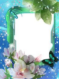 blue photo frame with corner design png image download png balloon image