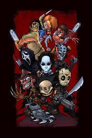Halloween 3 T Shirt by The Big 3 Of Horror Movies Jasonvoorhees Michaelmyers