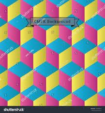 Cmyk Spectrum Abstract Geometric Vector Background Illustration Cmyk Stock