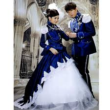 Victorian Halloween Costumes Women Creative Blue Colonial Victorian Edwardian Military Couples