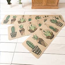 online shop natural rubber cactus back kitchen rug sets mat oil